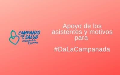 Apoyo de los asistentes y motivos para #DaLaCampanada